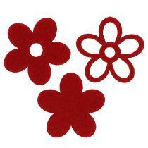 Feltro Litter-Deco fiore rosso ordinato nel mix Ø4cm 72 pezzi