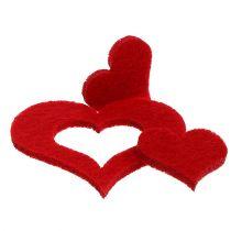 Cucciolo di cucciolata-Deko in feltro 2,5 cm - 5 cm Rosso 24 pezzi