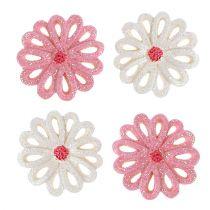 Decorazione da controllare fiori 3 cm rosa, crema 60 pezzi