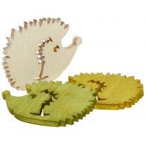 Decorazione da controllare Hedgehog in legno assortito 4cm 72 pezzi