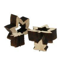 Decorazione da controllare foglie in legno 1 cm - 2 cm natura 192 pezzi