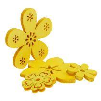 Decorazione da controllare Fiore di legno Yellow 2cm - 4cm 96pcs