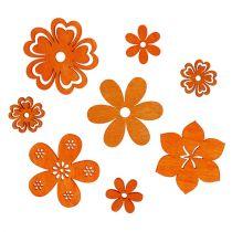 Decorazione da controllare Fiore di legno Orange 2cm - 4cm 96pcs