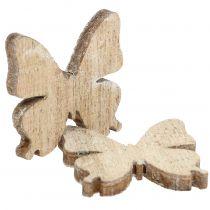 Decorazione sparsa farfalla legno natura 2cm 144p