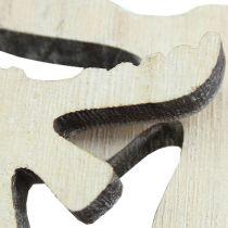 decorazioni da spargere alce di legno bianco lavato 30 pezzi