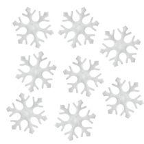 Fiocchi di neve Decorazione da controllare bianchi 3,5 cm 120 pezzi