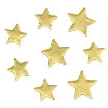 Decorazione da controllare mix di stelle 4-5 cm oro opaco 72 pezzi