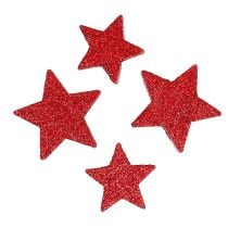 Stelle sparse rosse, mica 4-5 cm 40 pezzi