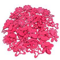 Decorazioni da spargere in legno Rosa Assortiti 2cm - 4cm 72pezzi