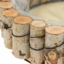 Vassoio, legno di betulla naturale, rotondo, Ø24cm