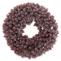 Corona di pigna Ø25cm Ghiacciata bordeaux
