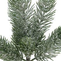 Ramo di abete verde ghiacciato 30 cm 3 pezzi