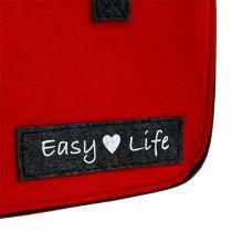 Easy Life Bag 39 cm x 22 cm x 25,5 cm Rosso-Grigio