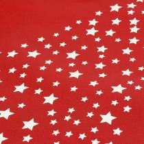 Borsa per il trasporto rossa con stelle 38 cm x 46 cm 24 pezzi