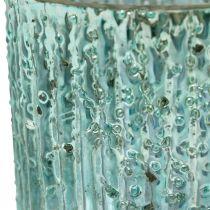 Candela Tealight in vetro blu lanterna decorazione candela in vetro 8cm