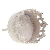 Porta tealight crema antico Ø5cm H10cm 1p