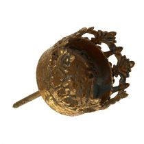 Porta tealight oro antico Ø3,8cm H9,5cm 1p