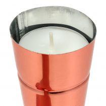 Porta tealight Ø4,5cm H25cm rame 4 pezzi