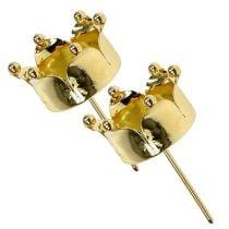 Porta tealight corona d'oro Ø4,8 cm 4 pezzi