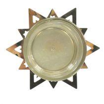 Porta tealight stella oro 23,5 cm 4 pezzi