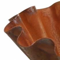 Ciotola decorativa, aspetto teglia, griglia in acciaio inox Ø12,5cm H4cm
