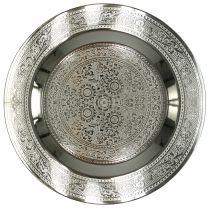 Piatto decò Marrakech argento Ø33cm
