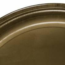 Piatto decorativo in metallo bronzo con effetto smalto Ø50cm