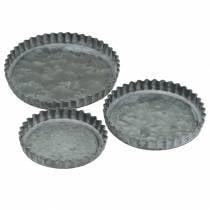 Set stampo da forno per piatto decorativo zinco Ø7,8–11,5cm H1,3cm