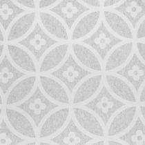 Tovaglia in pile con motivo grigio 30 cm x 300 cm