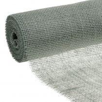Nastro da juta Runner da tavolo grigio 30 cm 10 m