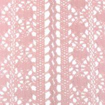 Runner da tavola all'uncinetto in pizzo rosa 30 cm x 140 cm