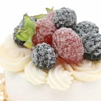 Replica di cibo decorativo cupcake blackberry 7cm