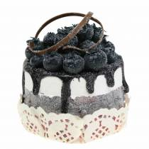 Replica di cibo decorativo mirtillo cupcake 7 cm