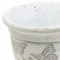 Vaso per fioriera con farfalle Ø12,5cm H13cm 2 pezzi