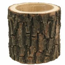 Vaso per piante in legno di olmo Ø16-18cm H15cm