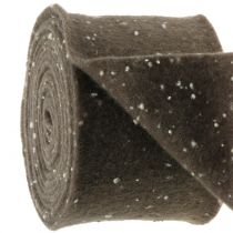Nastro in feltro marrone con punti 15cm x 5m