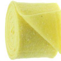 Nastro in feltro giallo con punti 15cm x 5m
