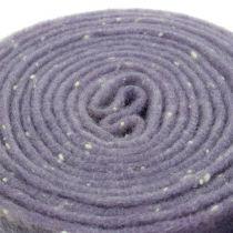 Nastro in feltro viola con punti 15cm x 5m