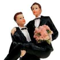 Coppia di uomini a torta 13,5 cm