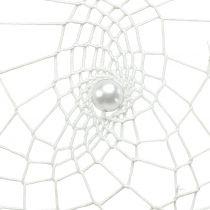 Dream catcher cuore bianco 55cm 2 pezzi