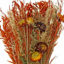 Mazzo di fiori secchi mix arancione 42 cm