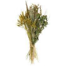 Fiori secchi Set fai da te giallo per asciugare bouquet 60cm