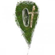 Fioriera a goccia muschio, vite commemorativa floristica 40x20cm
