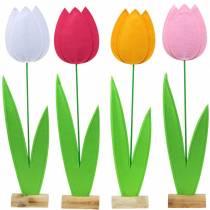 Fiore di feltro tulipano Diversi colori H88cm