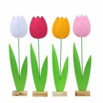Tulipano fiore in feltro H68cm Diversi colori