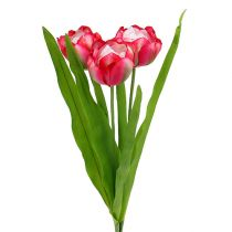 Tulipano artificiale rosa 60cm 3 pezzi