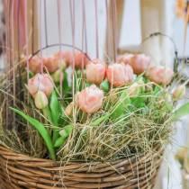 Mazzo di tulipani Real Touch, fiori artificiali, tulipani artificiali rosa