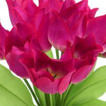 Cespuglio di tulipani rosa L 30 cm