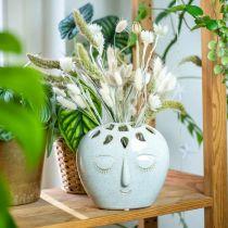 Vaso con crema per il viso, effetto gres beige H18cm 1p