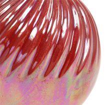 Vaso, Mini Vaso Madreperla rosso Ø7,5cm H10cm 6pz